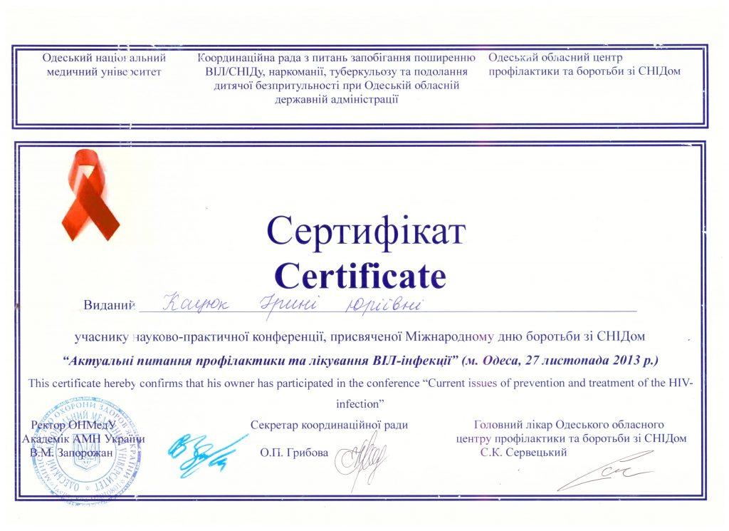 Сертификат Кацюк Ирина 1